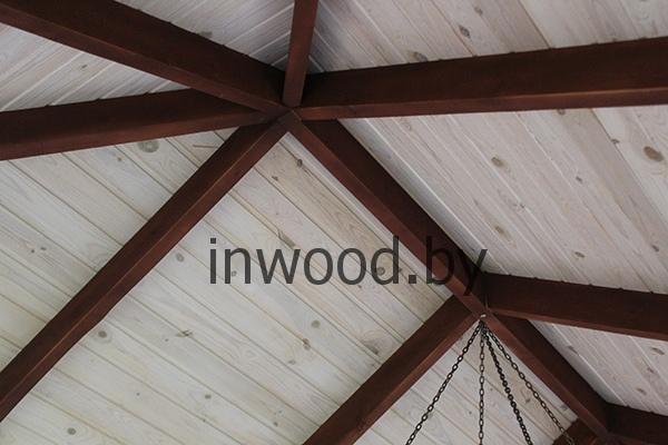 Отделка деревянного потолка фото