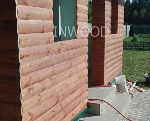 обшивка дома блок-хаусом фото