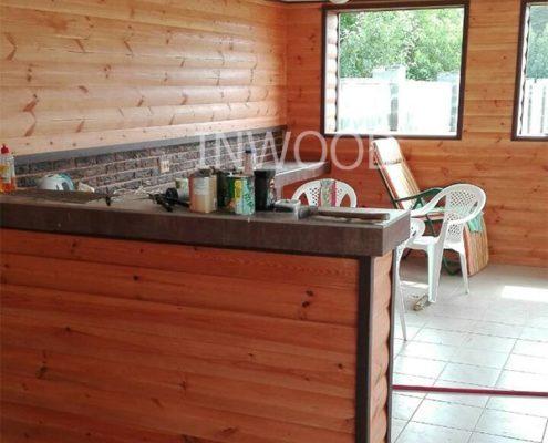 внутренняя отделка летней кухни фото