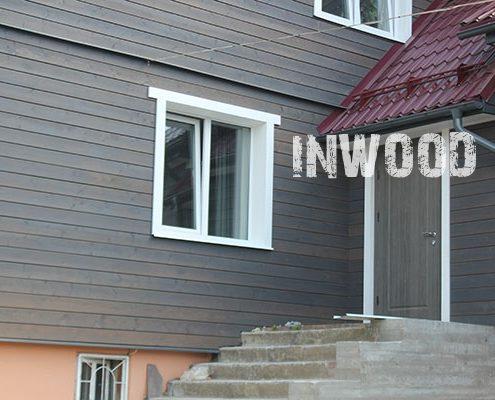 oblicovka fasada doma plankenom foto