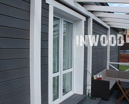 Otdelka fasada doma plankenom foto