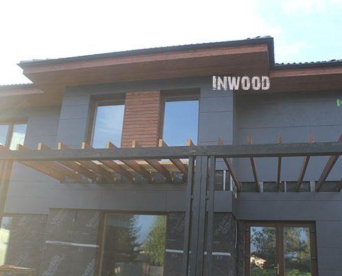 foto vstavki plankena na fasade doma