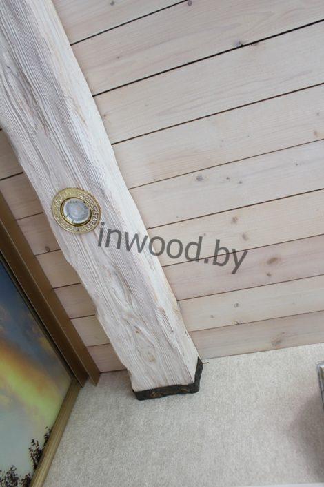 деревянные балки в интерьере фото