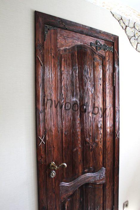 межкомнатная брашированная дверь