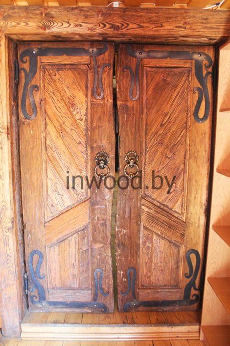 брашированная дверь фото