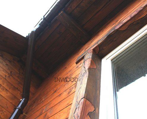 photo process obshivki derevyannogo doma blokhausom