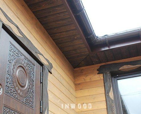 fasad iz dereva blokhaus foto