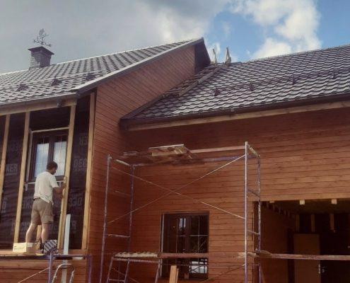 foto process montaja plankena na dom